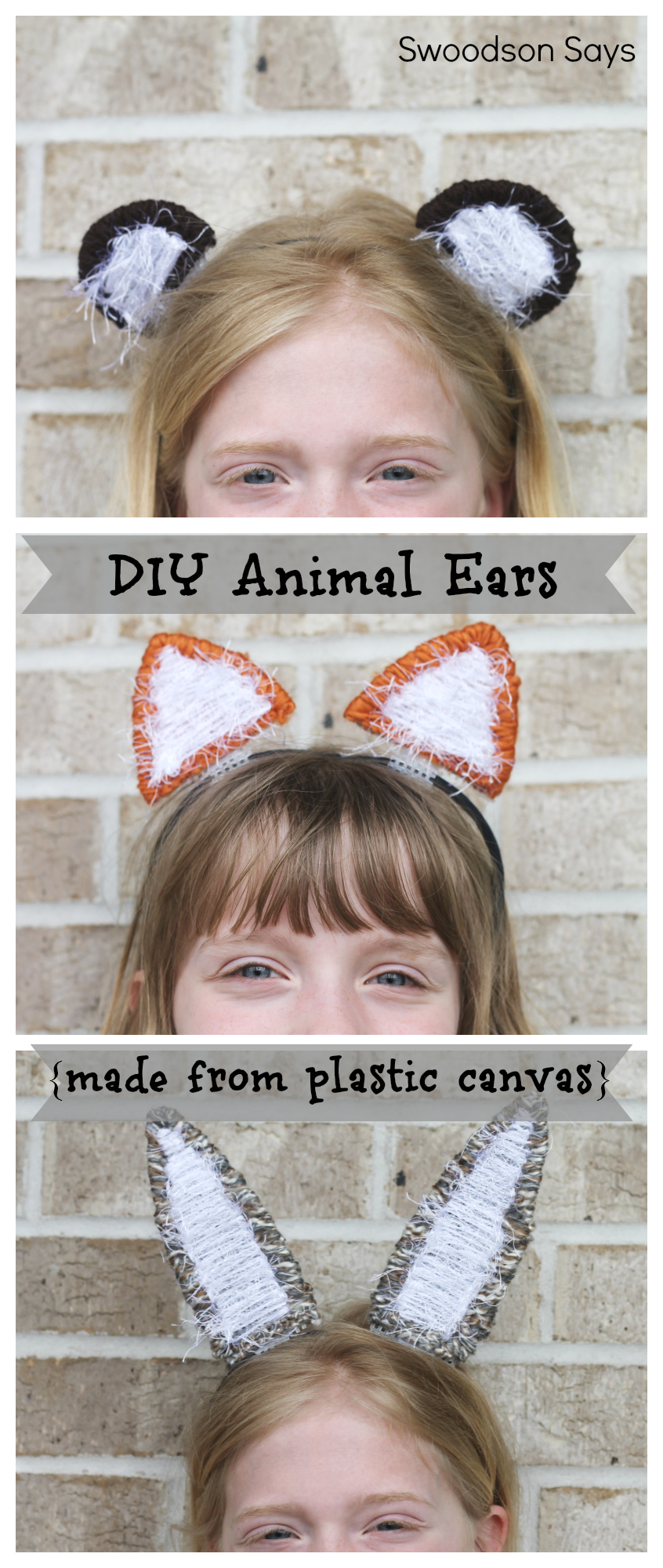 DIY Animal Ear Headband Swoodson Says 1 DIY Animal Ear Headband   Plastic Canvas Blog Hop!