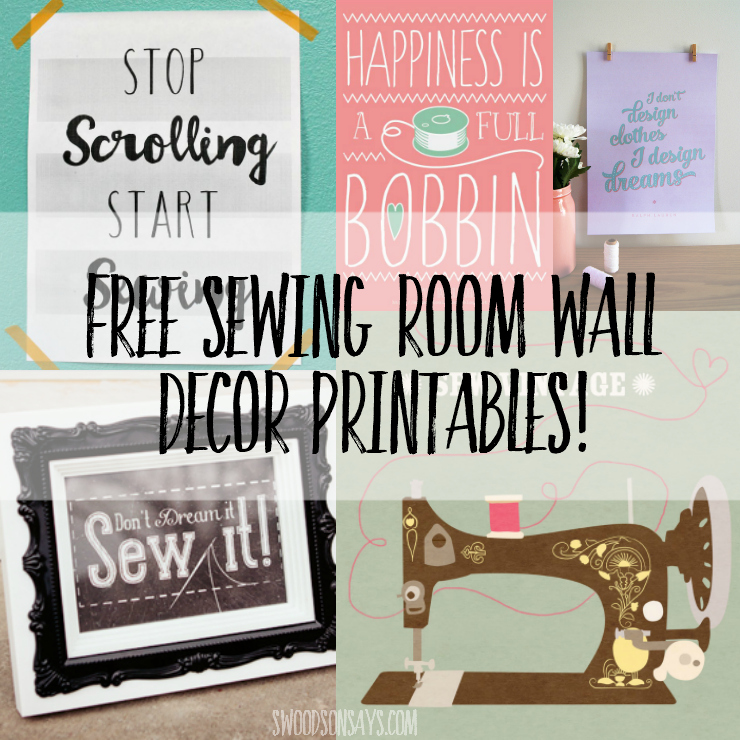 image relating to Free Printable Decor called 8 Totally free Sewing Space Printables for Wall Decor - Swoodson Suggests