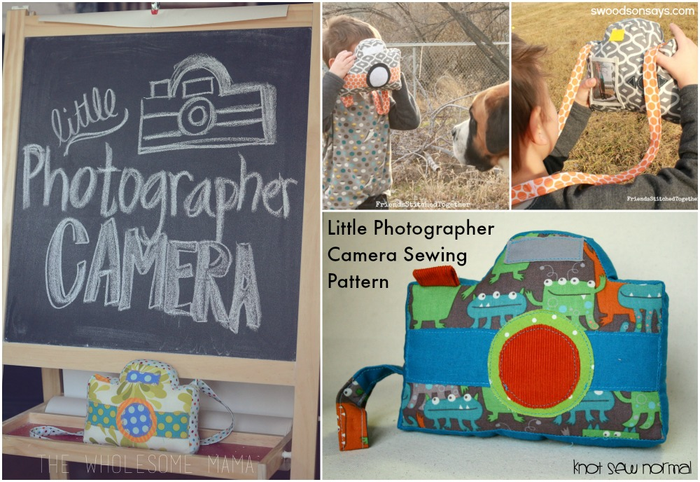 Little Photographer Camera Softie Sewing Pattern (1)