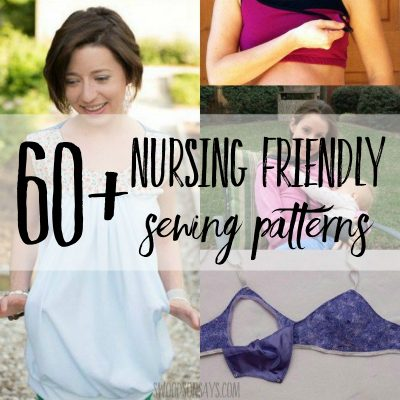 nursing friendly sewing patterns