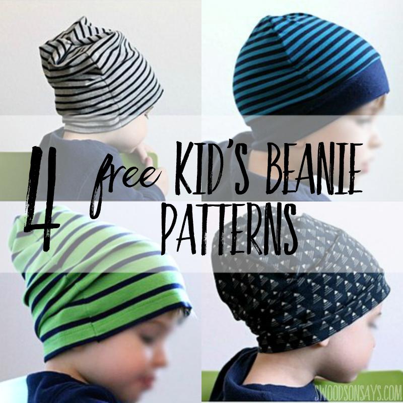 A4 Beanie digital PDF Sewing Pattern /& tutorial slouch beanie sewing pattern banded beanie sewing pattern knot top beanie tutorial