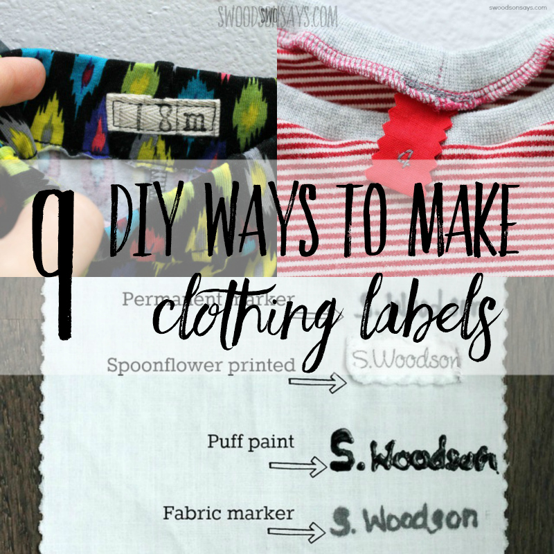 make your own clothing labels