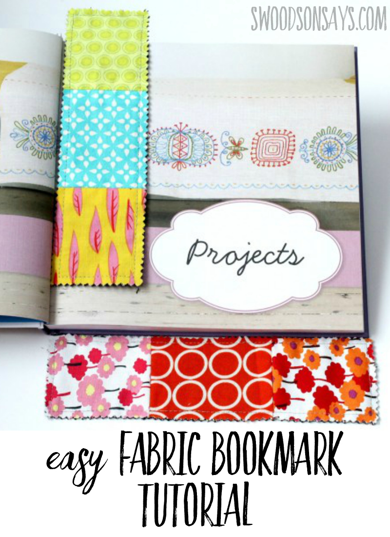 Fabric Scrap Busting Bookmark Tutorial - how to make the easiest bookmark. Great project for using up scraps - pair it with a book as a gift! #sewing