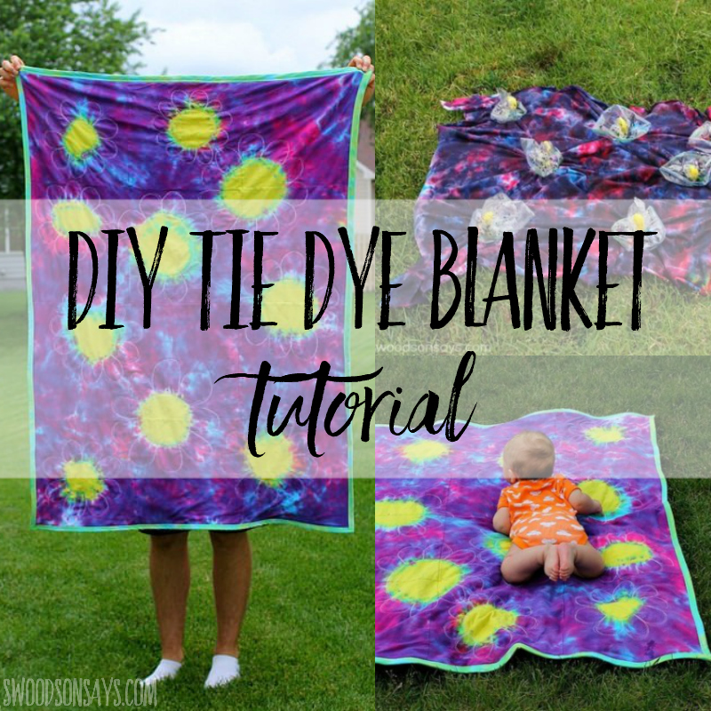 How to make an upcycled DIY tie dye blanket