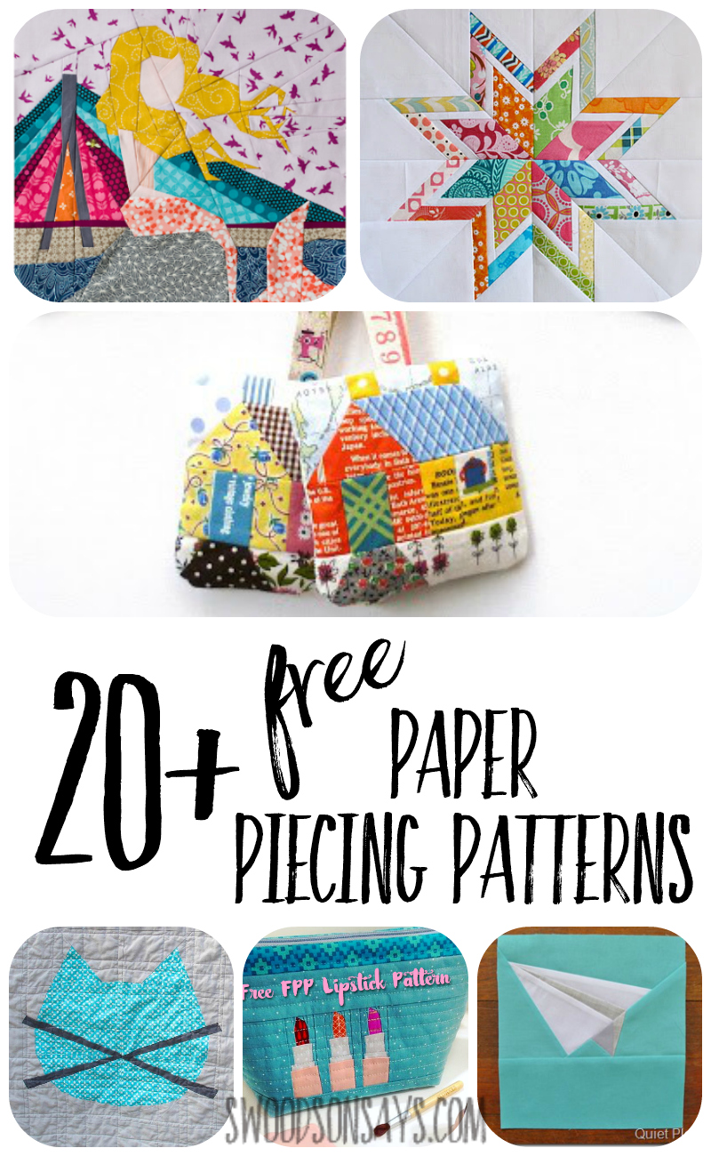 photo relating to Free Printable English Paper Piecing Templates called Free of charge Paper Piecing Designs in the direction of obtain and sew