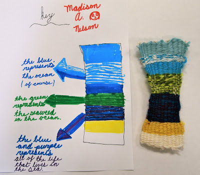 creative weaving with kids art activity