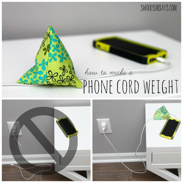 how to make a diy phone cord weight