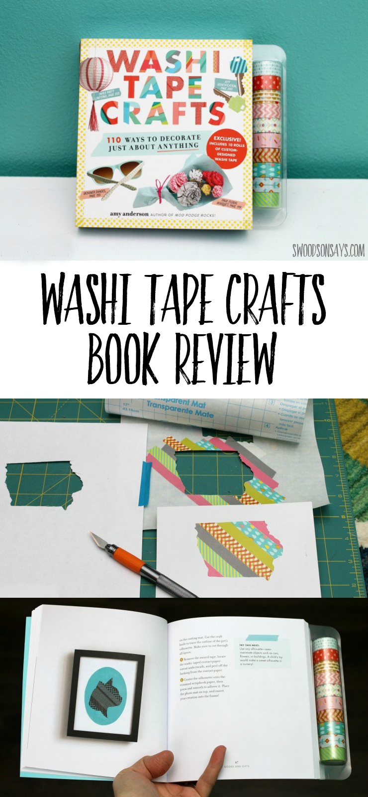 Check out this craft book all about washi tape crafts! Lots of ideas and beginner friendly washi tape projects. #washitape