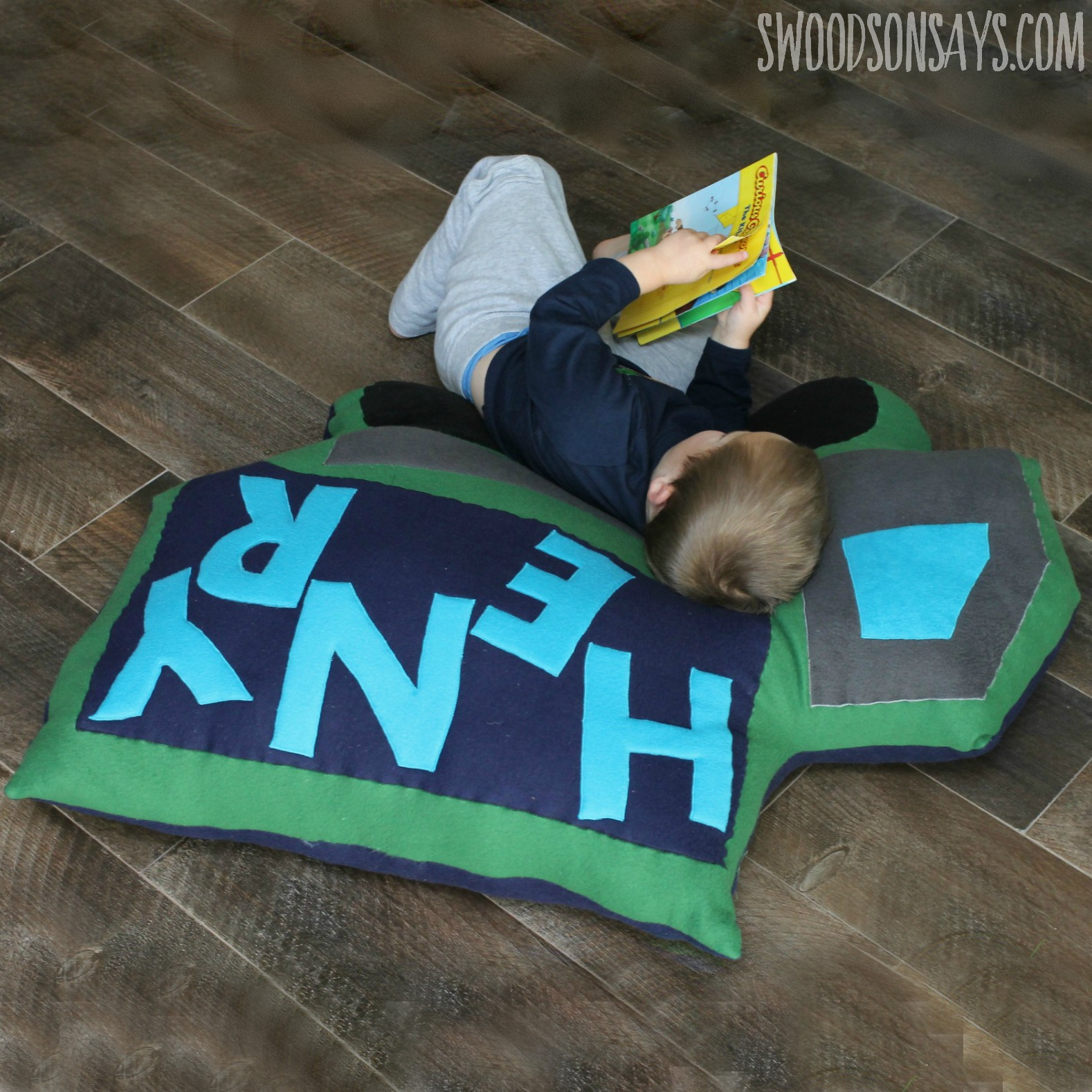 Mega Dump Truck Floor Pillow PDF Sewing Pattern