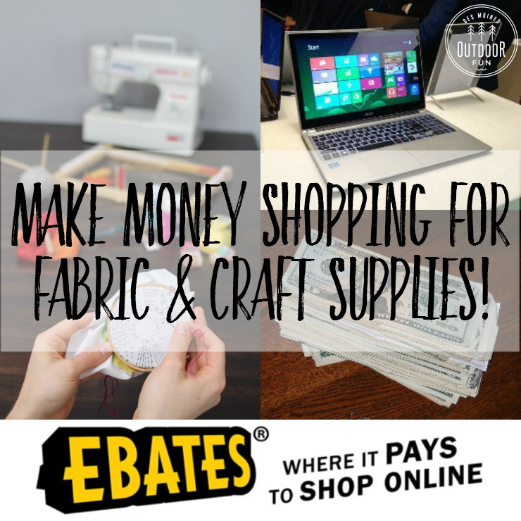 Use Ebates.com to earn cash back on fabric, patterns, notions, craft supplies, and sewing machines! It's easy! Picture walk through showing you how, it's super easy.