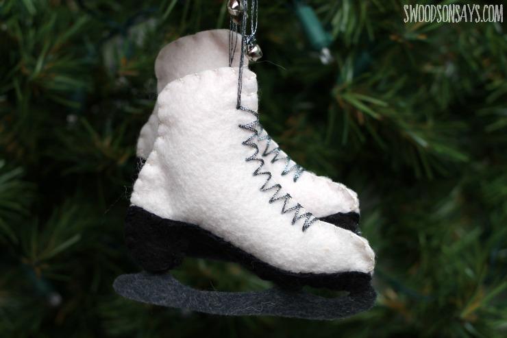 how to sew felt ice skates