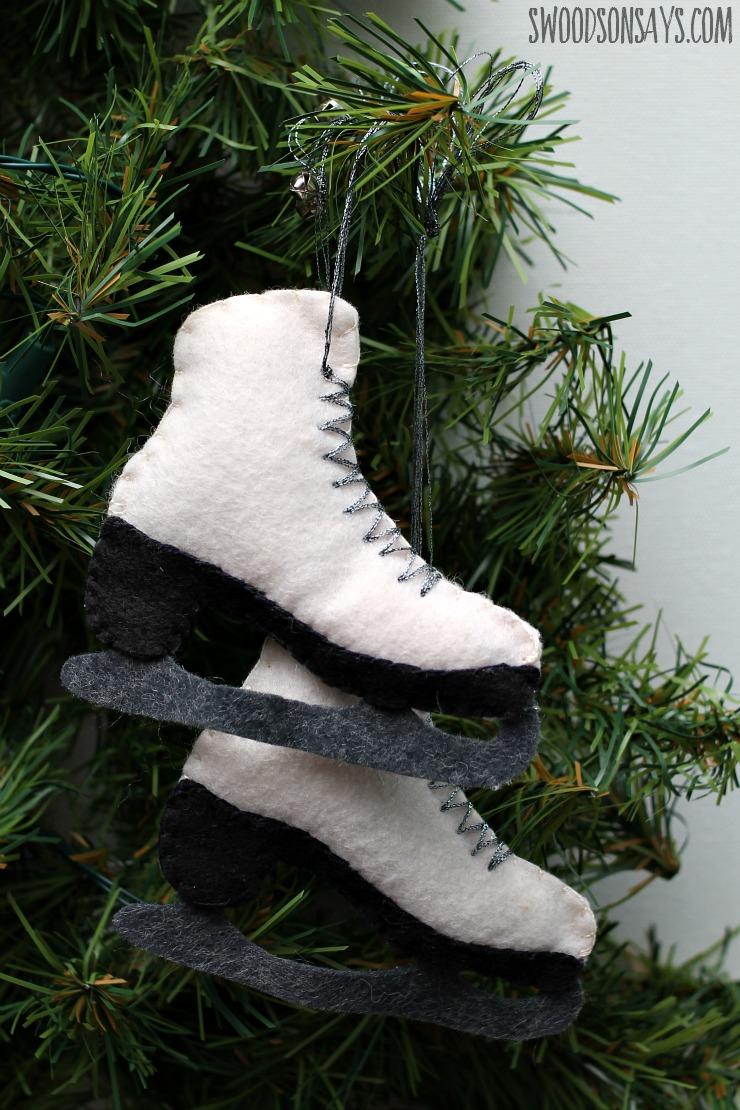 ice skate ornament free pattern