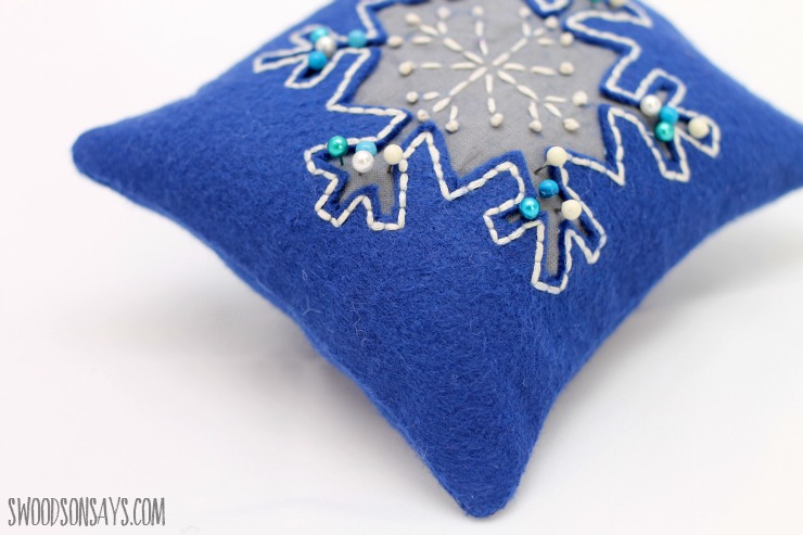 snowflake stitching detail