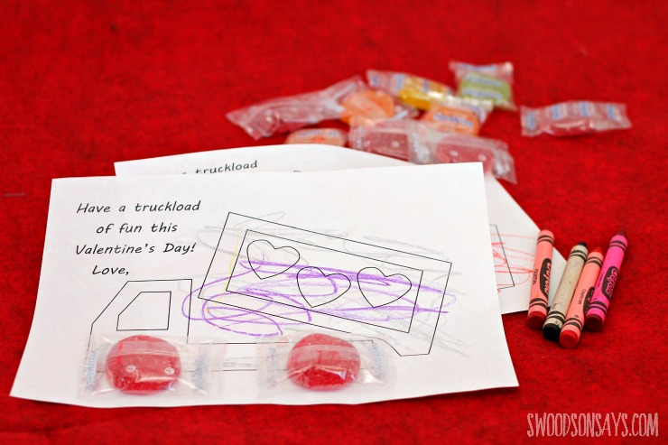 free truck valentine printable