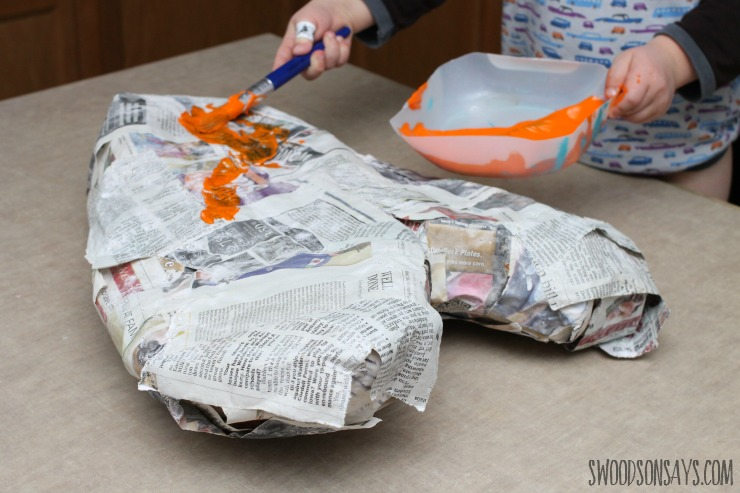 painted paper mache