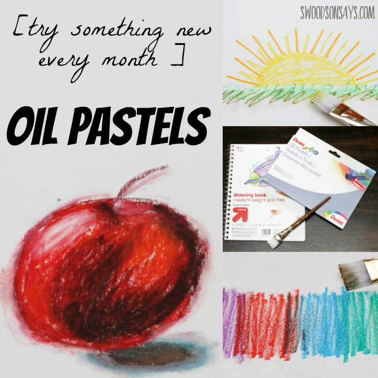 I am trying something new every month - for March I played with oil pastels!