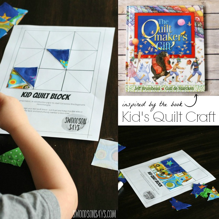 Kid's Quilt Craft - an activity with The Quiltmaker's Gift ...