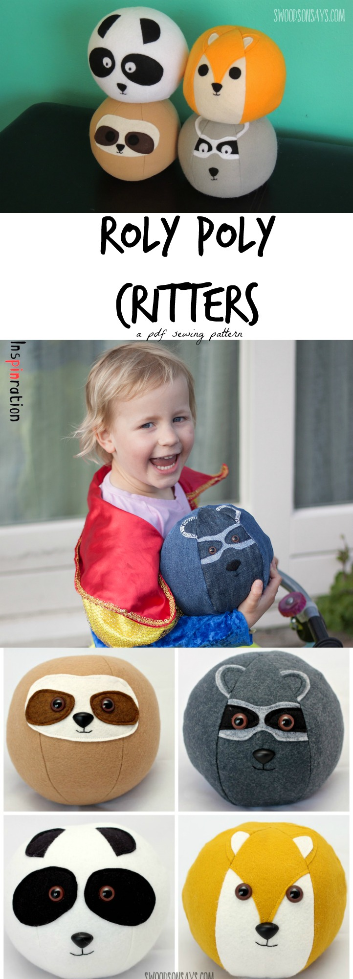 roly poly critters pdf sewing pattern
