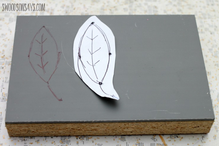 lino cut leaf