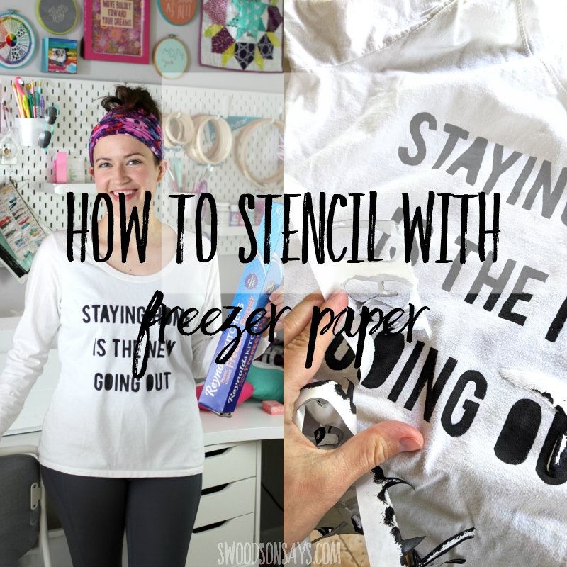 Freezer paper stencil tutorial