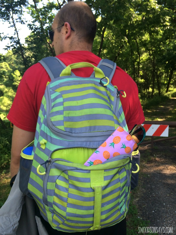 sunglasses case in backpack