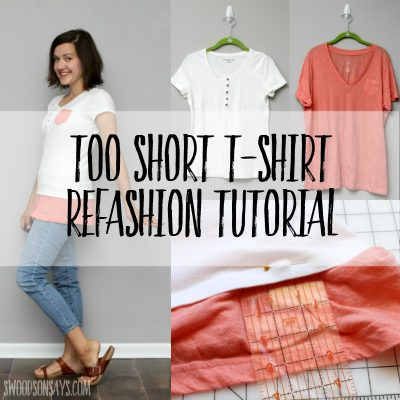 how to make a tshirt longer