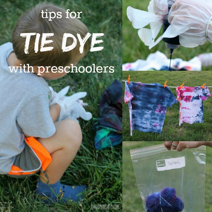 Tips on tie dye shirts for kids with kids!