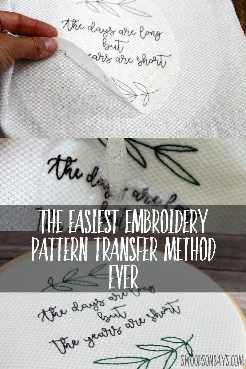 photograph about Printable Embroidery Transfer Paper referred to as Trick for how in direction of shift embroidery models
