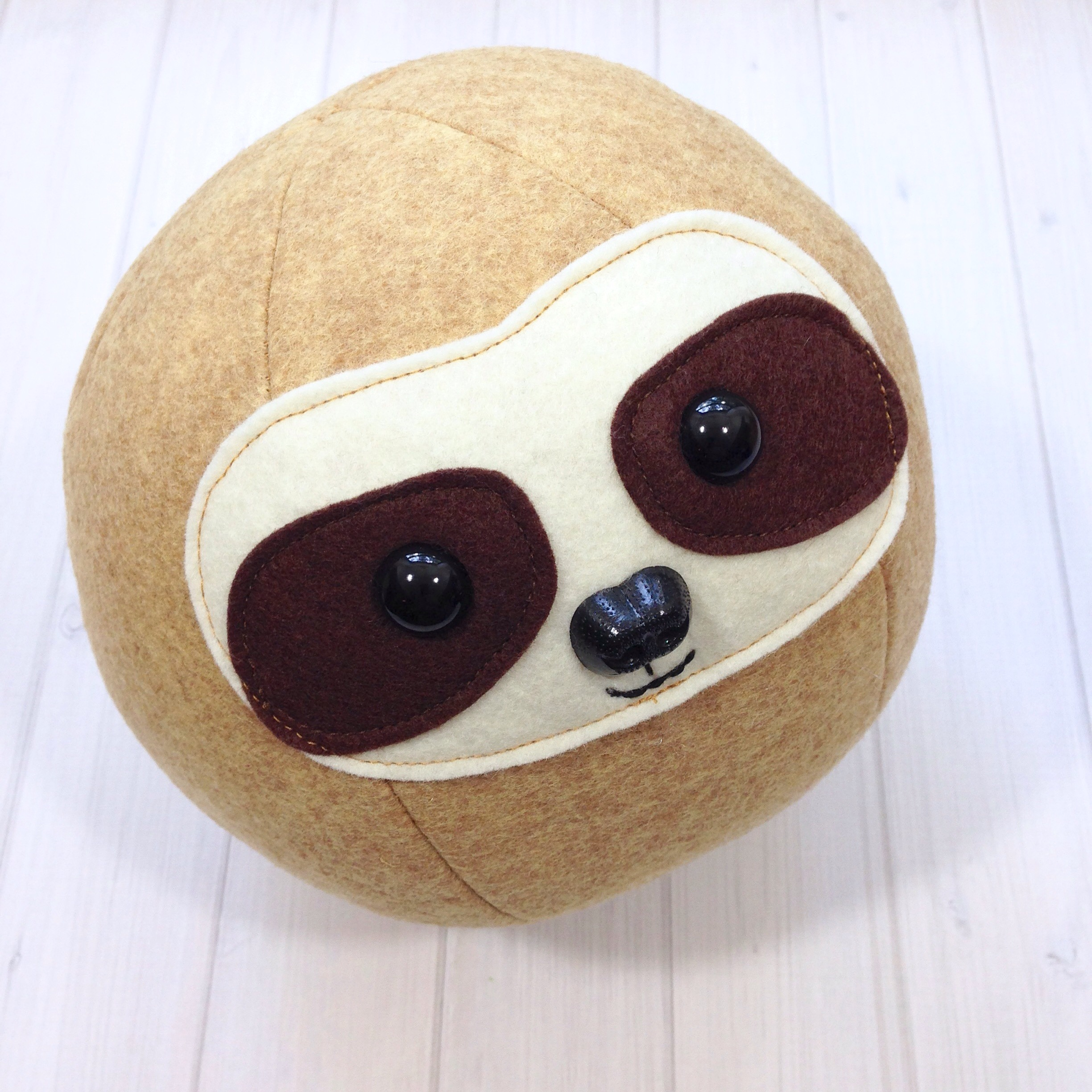 Sloth Roly Poly Ball Softie Sewing Pattern