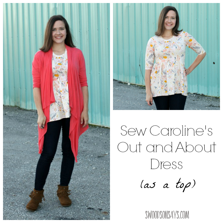 Sew Caroline's Out and About Dress - as a top! A women's PDF pattern for a knit top.