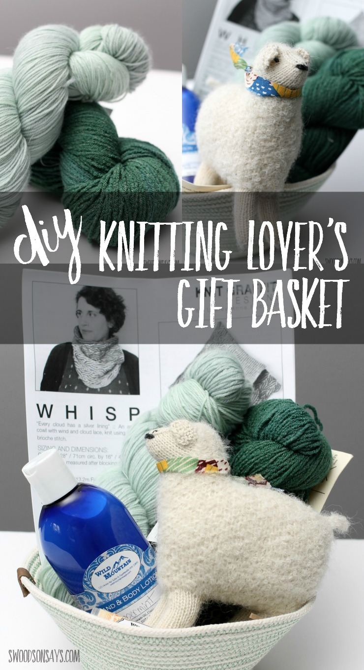 Make a DIY gift basket for someone who knits with this fun set!