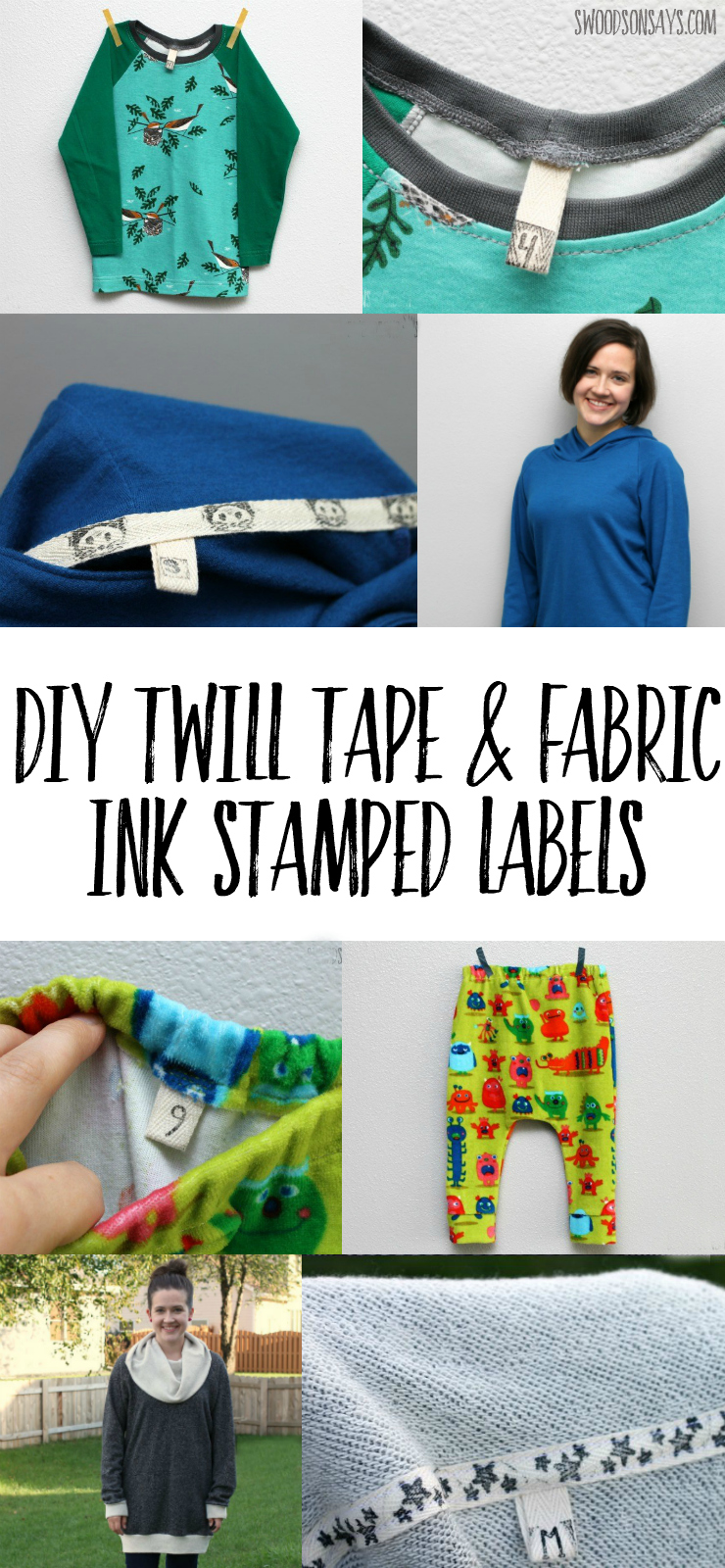 Check out how easy it is to make diy clothing labels with twill tape and fabric ink! Super cheap and they hold up great, this is perfect for handmade gifts and clothes. #diylabels #clothinglabels #twilltape