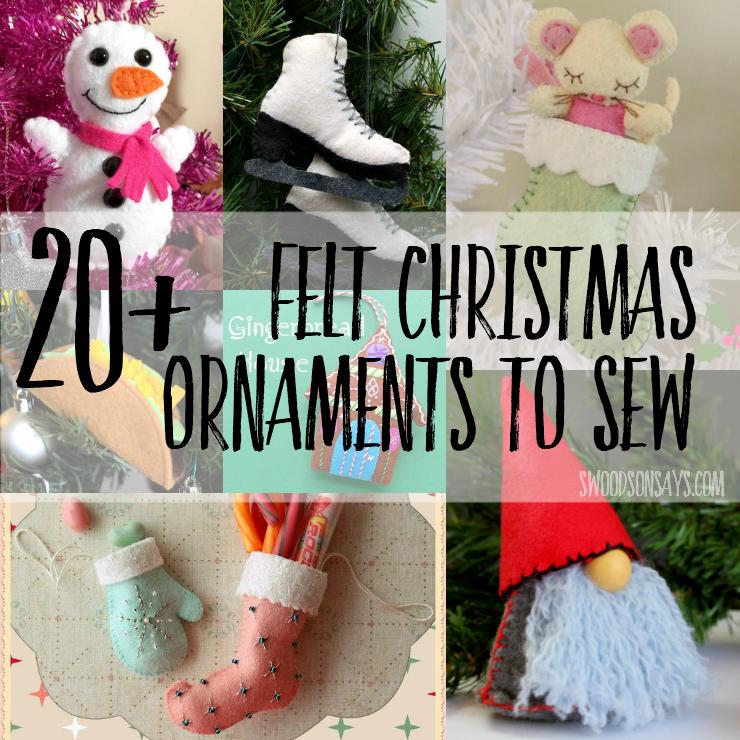 free felt Christmas ornament patterns