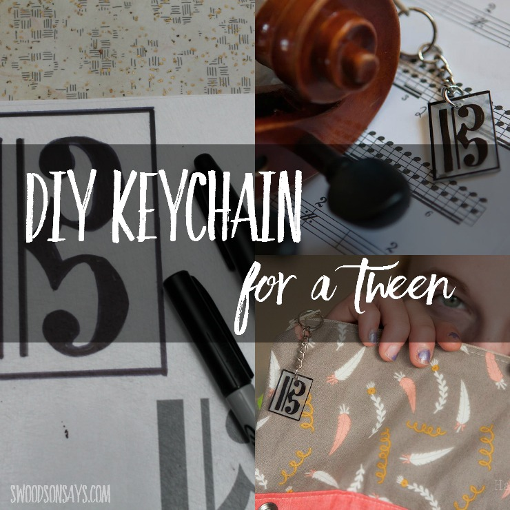DIY gift ideas for tweens and teens can be tricky - use a sharpie and shrinky dinks to make a custom keychain for their bags or jackets! This tutorial will show you how to make a diy keychain in a few easy steps.