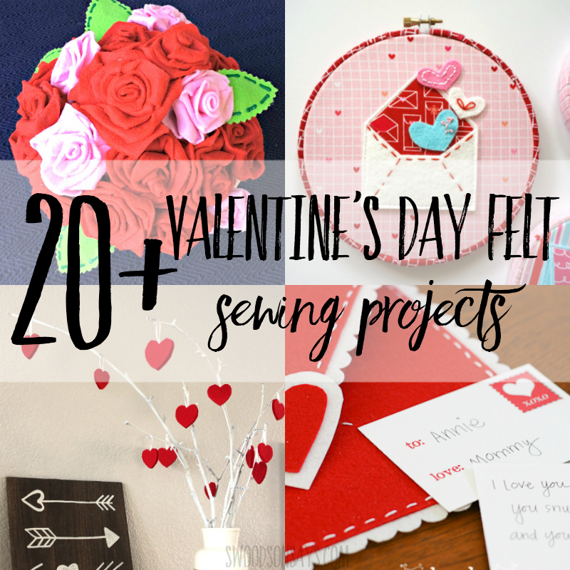 20+ Valentine felt projects to sew