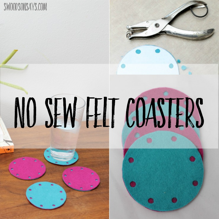 How To Make Felt Coasters – No Sewing Required!