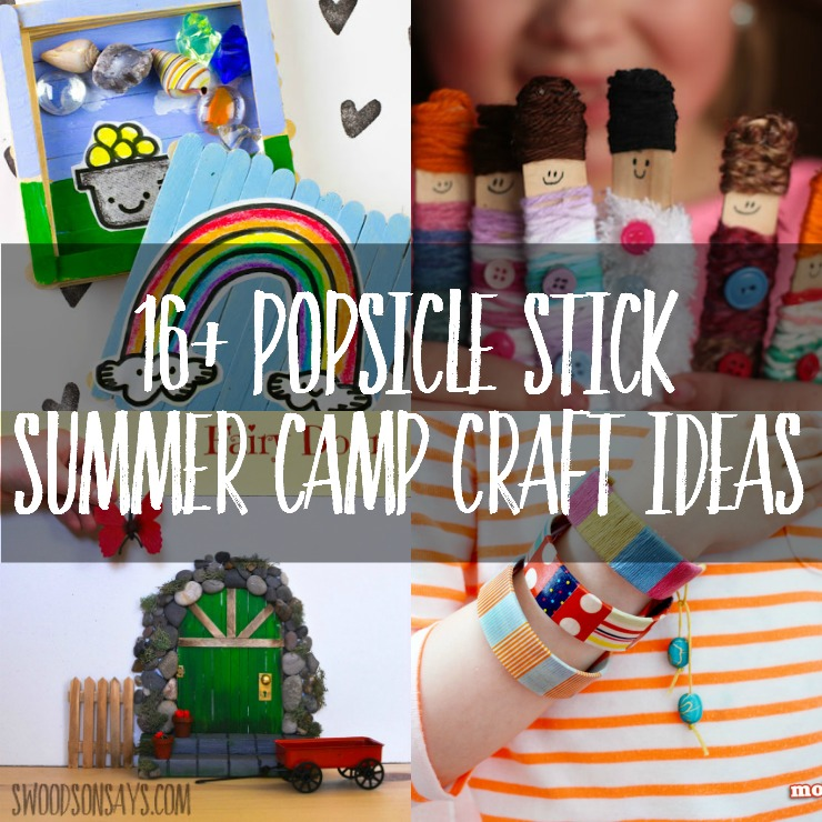 Craft sticks are the perfect craft supply for summer camp - cheap and fun! Here's a list of popsicle stick crafts for summer camps - get some friends together and get crafty!