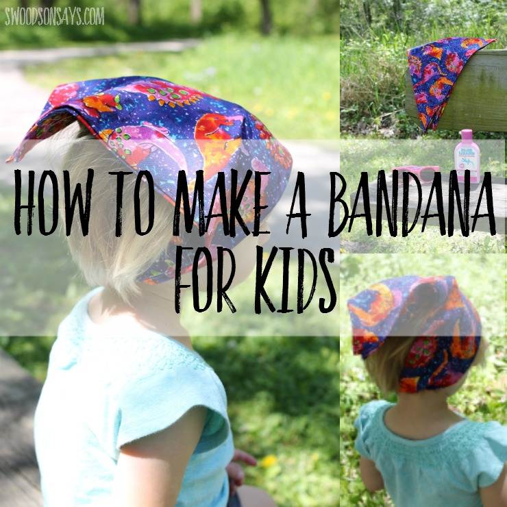 How to make a bandana for kids