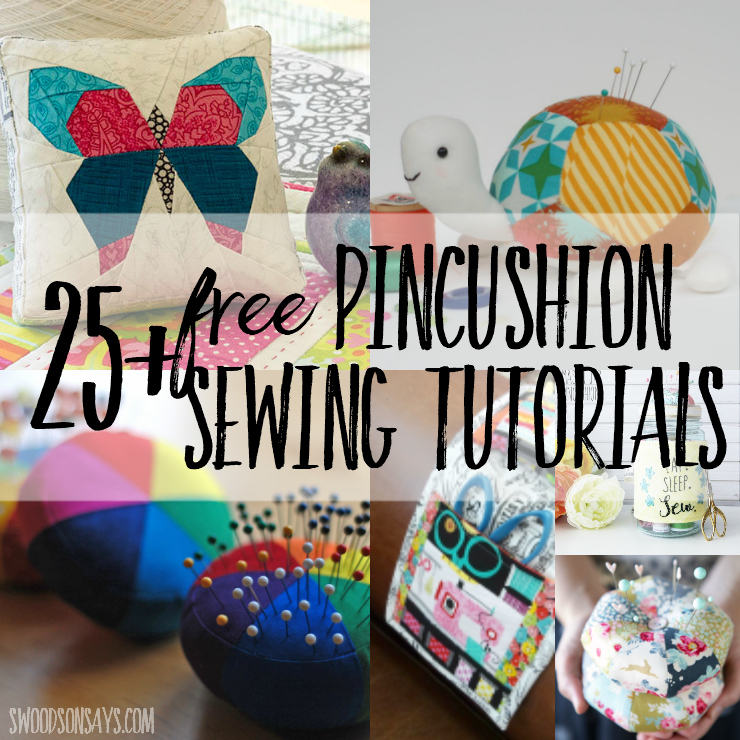 25+ Free Pincushion Sewing Tutorials