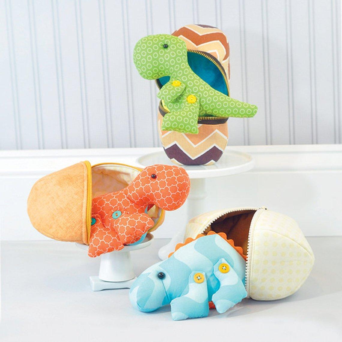 stuffed dinosaur toy to sew
