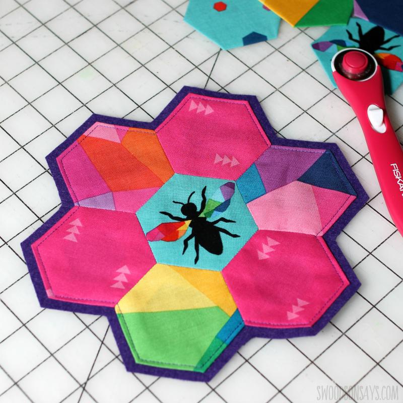 rainbow english paper piecing