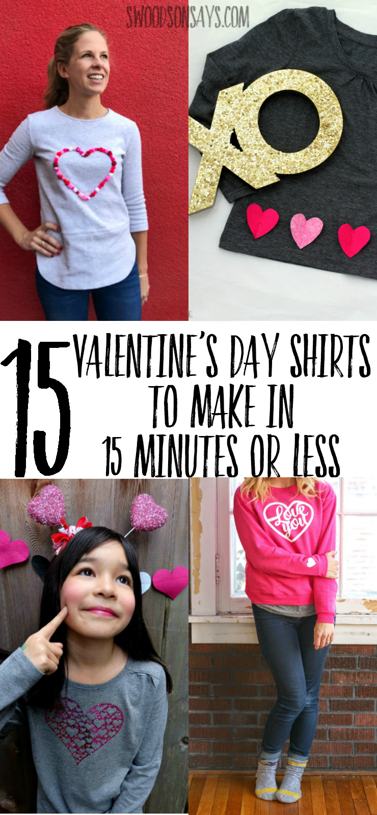 Get crafty with one of these creative DIY Valentine's Day shirts! Fun and fast tutorials that will be perfect for the holiday of love. All sorts of Valentine's Day crafts to make a unique shirt.