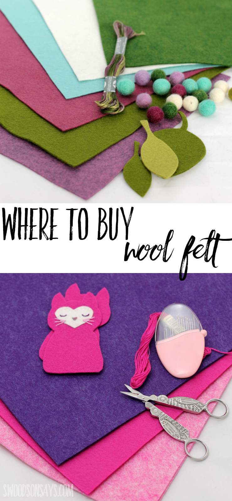 Looking to upgrade from cheapie, plastic felt? Check out tested, trusted online shops for where to buy wool felt online for all your embroidery and hand sewing projects. #woolfelt #embroidery #handsewing
