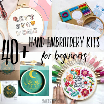 40+ best modern embroidery kits for beginners
