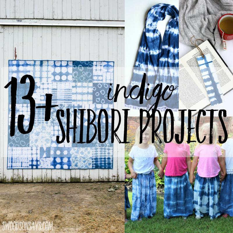 DIY Indigo Shibori Tutorials - Swoodson Says