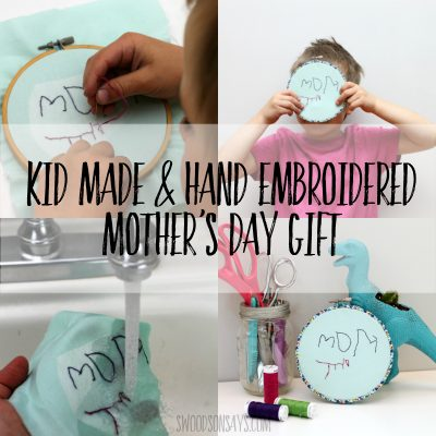 hand embroidery tutorial for kids to stitch