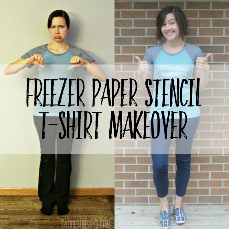 Easy T-shirt Freezer Paper Stencil Refashion & Greenstyle