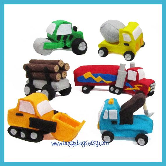 Construction truck softies