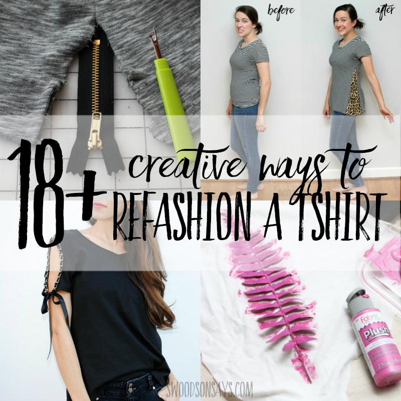 18+ creative t-shirt refashion ideas