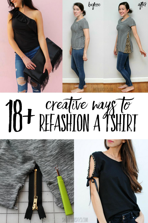 tshirt refashion ideas